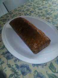 Plum-cake all'arancia glassato