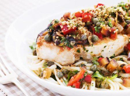Pesce spada ai sapori mediterranei